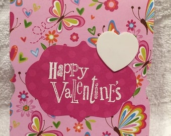 Happy Valentines Day Card, Valentine Card, Mom Cards, Handmade Cards, Handmade Valentine Card, Valentine's Day Card