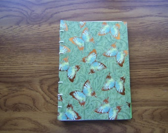 Journal Hand Stitched Soft Cover Blank Journal Butterflies