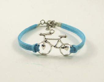 Particular handmade leather cord bracelet,bicycle,vintage,bangle,personalized(P12)