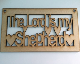 Laser cut wooden sign