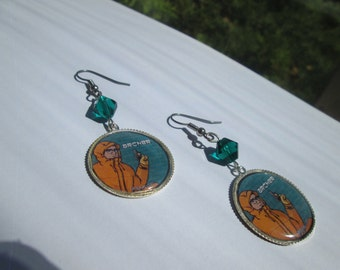 ARCHER  earrings on Surgical Steel Wires / Item G531