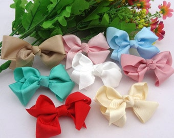 20 pcs Grosgrain Flowers Bows Appliques Crafts Wedding Sewing Decorations A021