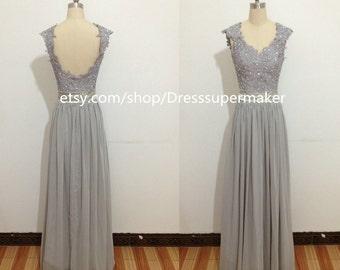 Grey prom dress | Etsy