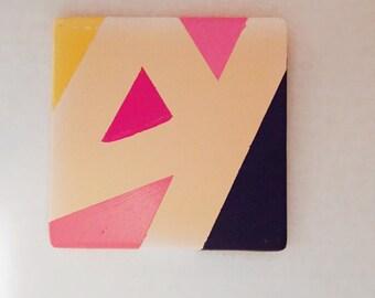 Colorful Triangle Coasters - Sets of 4