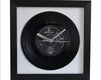 The Beatles - Yesterday - 7″ Single-Framed-Wall Clock