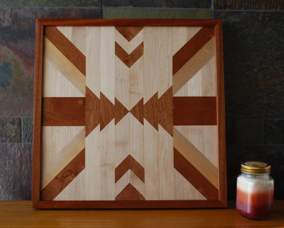 native american geometric design wood wall art navajo tribal design wood wall art wood - Native American Decor