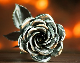 Metal Rose Perfect Handcrafted Steel Rose
