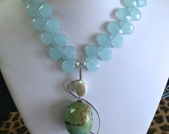 Aquamarine and Turquoise Necklace