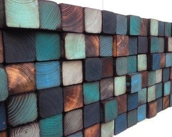 Wood Wall Art - Reclaimed Wood Wall Sculpture