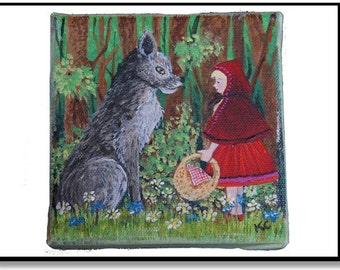 Miniature Little Red Riding Hood