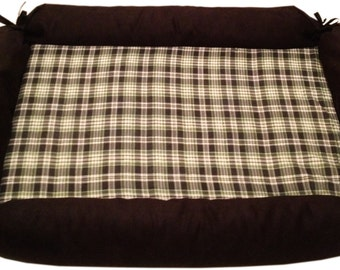 Memory Foam Dog Bed with Machine Washable Cover 39x27x4