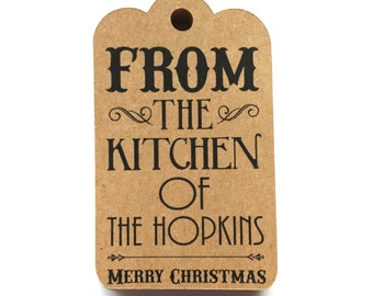 Custom any Holiday Gift Tags With Name Favor Tags Set of 25 Food Gift Tags Personalized Tags christmas etc