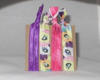Set of 4 Pony hair ties