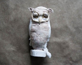 Stoff-Skulptur Eule,
