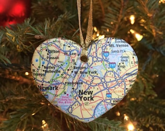 New York Map Ornament