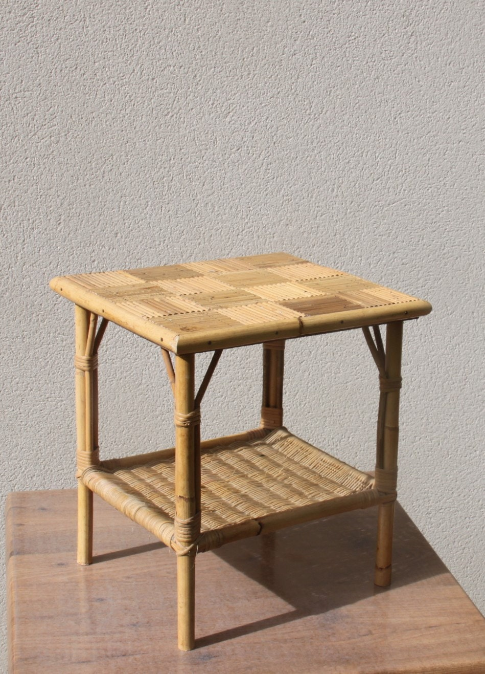 Small coffee table small table wicker rattan bamboo straw for Table basse petite