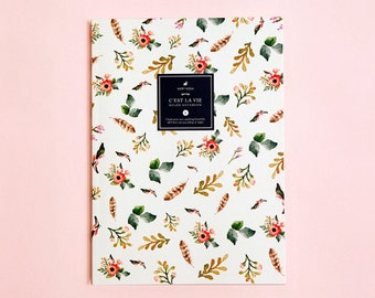 FLOWER RULED NOTEBOOK | Ruled Notebook | Blossom Notebook | Floral Pattern | Back To School | Daily Planner | Large Notebook | The Notebook