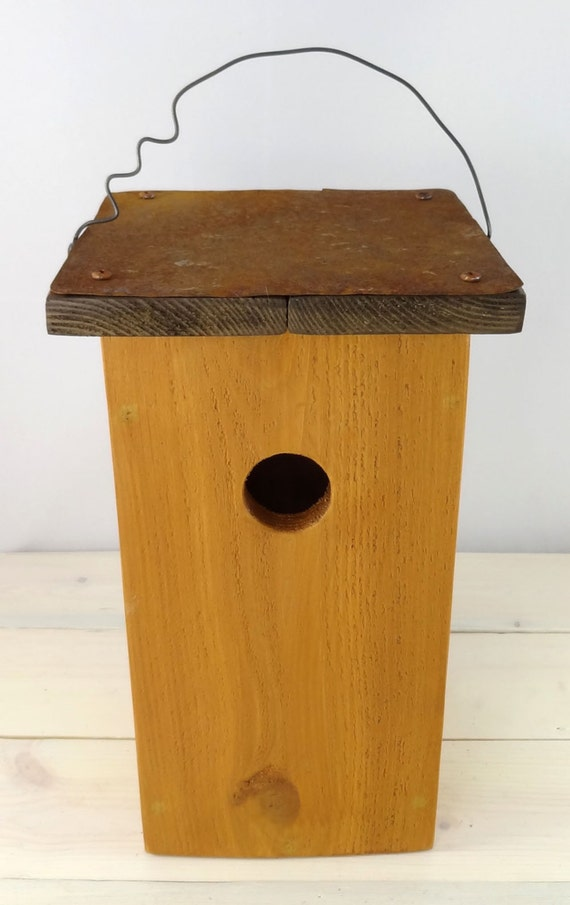Modern Bird House Handcrafted Outdoor Wooden By