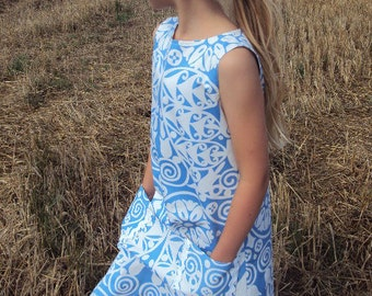 Great dress/dress for girl/girls from Amy Butler fabric
