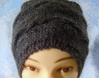 Head piece, warm handmade cable knit