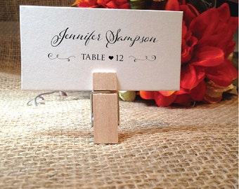 Name Cards Wedding Place Cards Wedding Seating Cards (POM) (Clip NOT included) Each name on card service included