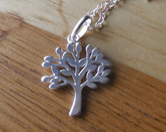 Sterling Silver Tree Pendant