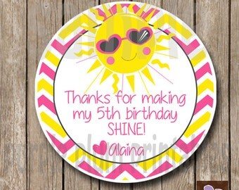 Sunshine Favor Tag - My Little Sunshine Birthday Party - First Birthday