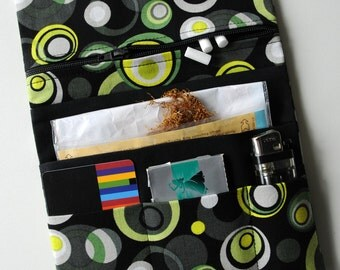 Black Drehertasche Dreherbeutel Tobacco pouch green leather tobacco pouch Yellow