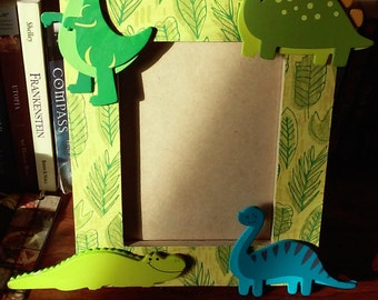 Adorable Dinosaur Picture Frame
