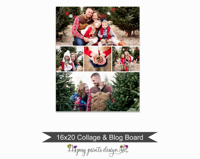 Blog Board & Collage Template 16x20 - Social Media Collage Template - Digital Storyboard - Instant Download - BCB09