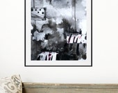 Black Abstract Painting -  Abstract Art - Black and white Painting - Contemporary Abstract Painting- White and black Painting- Dream art