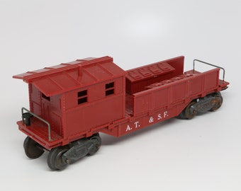1950's MARX A.T. & S. F Caboose HO scale, Dark Red