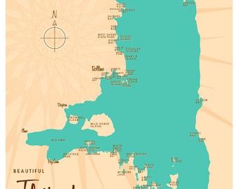 Flathead Lake, MT Map Print