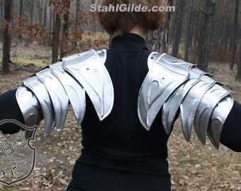 Larp Medieval Elf Fantasy Costume Galadriel Hobbit elven steel armor: shoulders /pauldrons