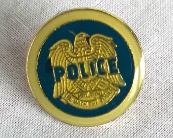 Rare Vintage 1980's 'Coppa' Police Rock Pin