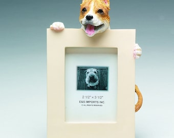 Pit Bull Gifts, Tan and White Pit Bull Picture Frame makes a Perfect gift for Pit Bull Lovers, Don't Bully My Breed