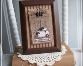 Clip Picture Frame, Primitive, Buttons, Americana, Patriotic, Coutnry, Changeable frame, Burlap, Red Ticking