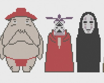 Spirits of Spirited Away Cross Stitch Pattern
