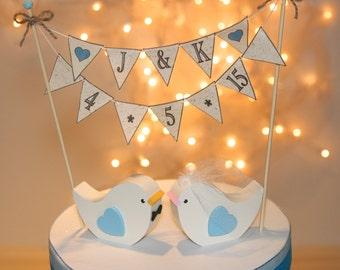 COMBO Wedding Cake Topper Love Birds Plus BANNER