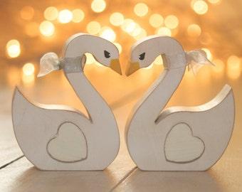 Swans Wedding Cake Topper Rustic Weddings Swans Woodland Wedding