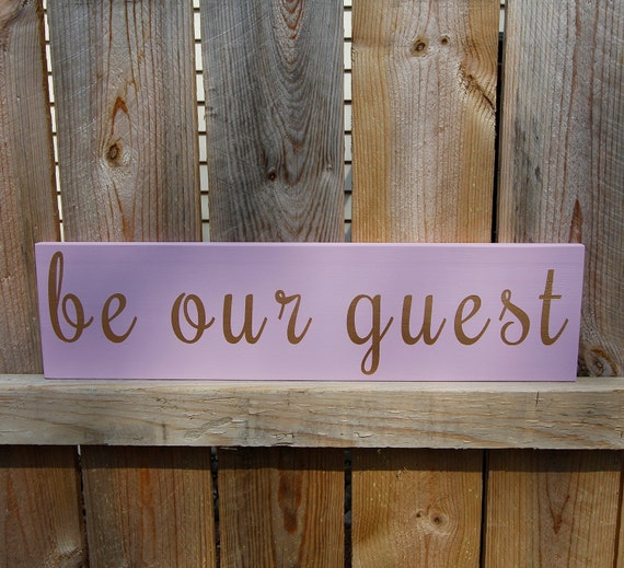 Guest Room Sign Decor: Be Our Guest Sign Guest Room Decor Wood Sign By