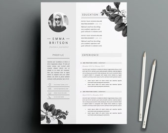 Resume Template 5 Pages | CV Template + Cover Letter + References For MS  Word |  Template For Cover Letter For Resume