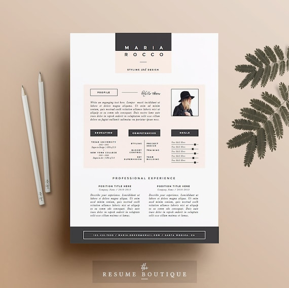 3pk resume cv mod le cover letter pour ms word Interior design resumes and portfolios