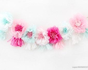 how to make mini tissue paper tassels