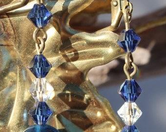 Denim Blue Dazzle Earrings