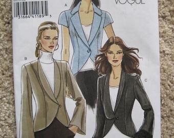 UNCUT Vogue Misses Jacket - Size 14, 16, 18, 20 - Sewing Pattern V8331