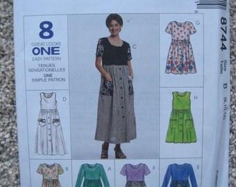 UNCUT Misses' Dress in Two Lengths - McCalls Pattern 8744