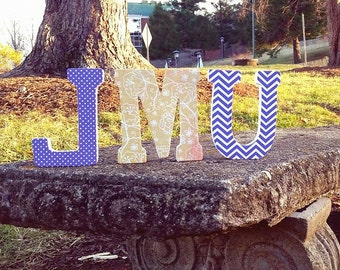 """James Madison University (JMU) 4.75"""" Standing Letters - For special occasions, holidays, birthdays, baby showers, graduation, weddings"""