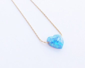 heart necklace opal, opal necklace,heart necklace, opal pendant, gold filled necklace, love necklace, valentines days gift,Gift for her