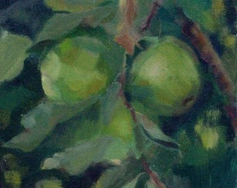 Green apples (oil painting)